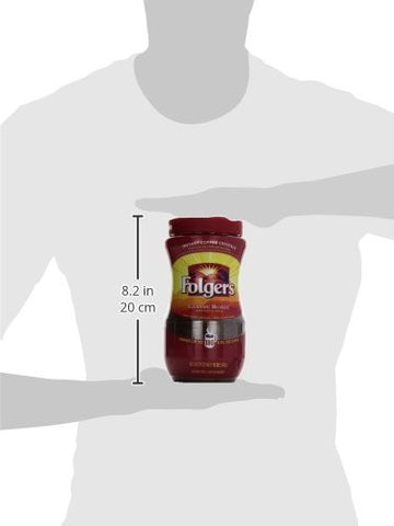 Folgers Classic Roast Instant Coffee...package comes with 2 containers of 12 oz each.