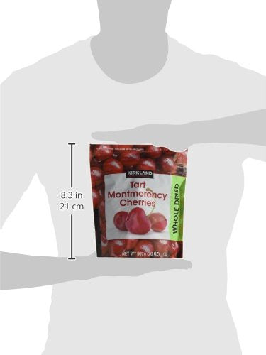 Kirkland Signature Whole Dried Tart Montmorency Cherries: 2 Bags of 20 Oz