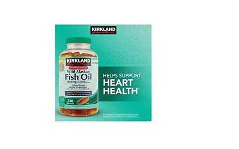 Kirkland Signature Wild Alaskan Fish Oil 1400mg, 230 Count