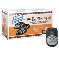Dixie Perfect Touch Domed Hot Cup Plastic Lids, 20 oz, 500 Count
