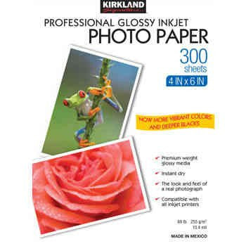 "Kirkland SignatureTM 4"" X 6"" Professional Glossy Photo Paper"