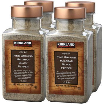 Kirkland SignatureTM Fine Ground Malabar Black Pepper 4-pack