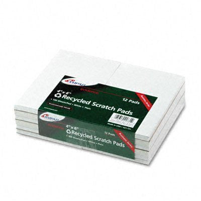 Scratch Pad Notebook, Unruled, 5 x 8, White, 100-Sheet, Dozen