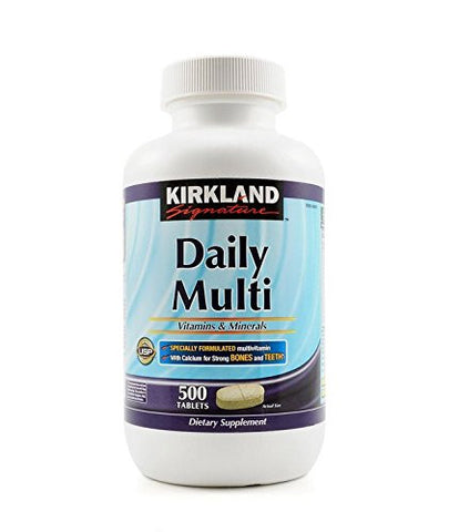 Kirkland Signature Daily Multi Vitamins & Minerals Tablets, 500-Count Bottle Personal Healthcare / Health Care