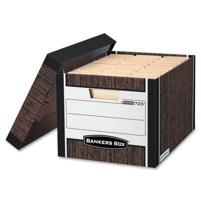 FEL00725 - Bankers Box R-Kive - Letter/Legal, Woodgrain