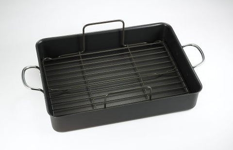 T-fal A85797 Specialty Nonstick Roaster, 16.5 x 13.5 x 3-Inch, Gray