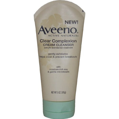 Aveeno Active Naturals Clear Complexion Cream Cleanser, 5-Ounce Tube