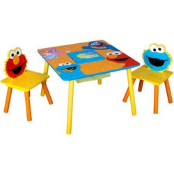 Sesame Street Storage Table and Chairs Set Delta Children