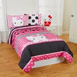 Hello Kitty Dots Beautiful Twin/Full Reversible Bedding Comforter