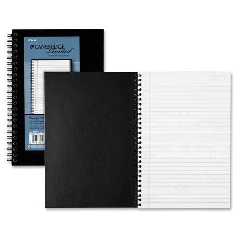 Cambridge Subject Wirebound Business Notebook, Lgl Rule, Ltr, WE, 80-Sheets