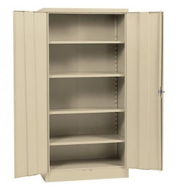"Quick Assembly Putty Steel Cabinet (Putty) (72""H x 36""W x 18""D)"