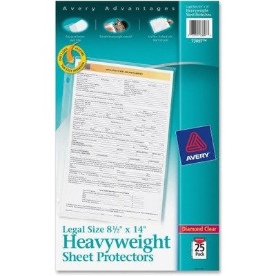 AVE73897 - Avery Legal Size Heavyweight Sheet Protectors