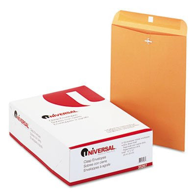 Universal 35267 Kraft Clasp Envelope Side Seam 28lb 10 x 13 Light Brown 100/box