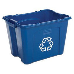 Rubbermaid Commercial Recycling Bin, 14 Gallon, Blue (FG571473BLUE)