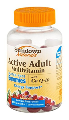 Sundown Naturals Active Adult Multivitamin With Co Q-10 Gummies Cherry And Grape - 60 CT