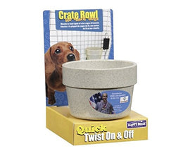 Happy Home Crate Bowl for Small Dogs (For Dogs and Puppies up to 25 Lbs: 10 Oz Capacity)