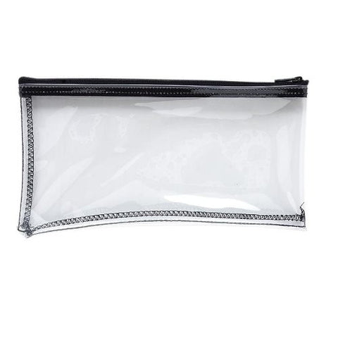 MMF MMF234041720 Clear Vinyl Zipper Top Wallet Bag