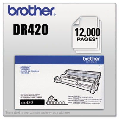Original Brother DR-420 (DR420) 12000 Yield Black Drum Unit - Retail