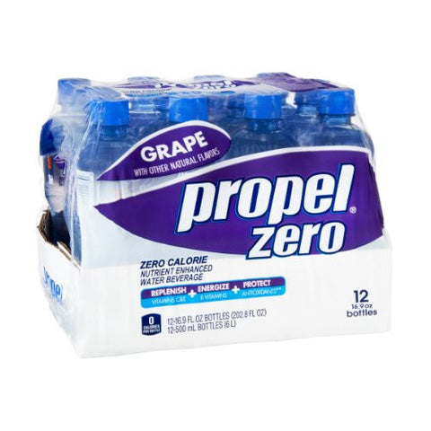 Propel Zero Grape Zero Calorie Nutrient Enhanced Water Beverage - 12 CT