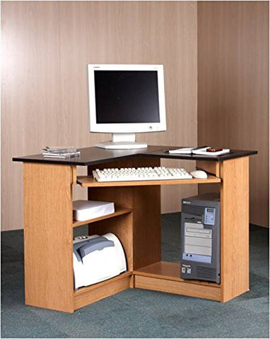 Mylex L-Shaped Computer Desk with Hutch
