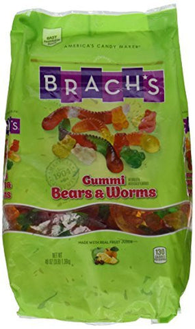 Brach's Gummy Bears and Worms Assorted Flavors Candy, 48 oz