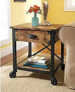 Better Homes and Gardens Rustic Country Side Table, Antiqued Black/Pine by Better Homes & Gardens