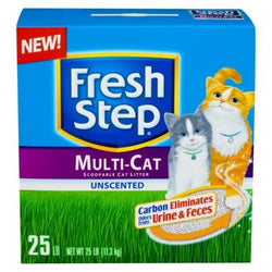 Fresh Step Litter Multi-Cat Scoopable, Unscented - 25 lb