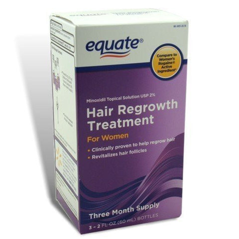 Equate Hair Regrowth Treatment for Women 3 Month Supply - USA