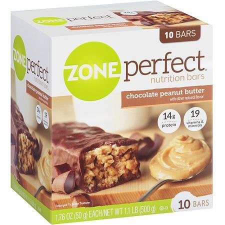Zone Perfect Chocolate & Peanut Butter Nutrition Bars, 10 - 1.76 Ounce Bars