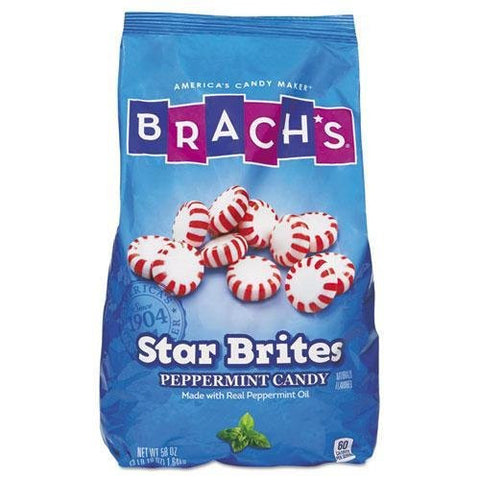 Brach`s. Star Brites Peppermint Candy, Individually Wrapped, 58 oz Bag (827132)