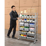 Seville Classics Commercial 7-Shelf 16-Bin Rack Storage System, NSF Certified