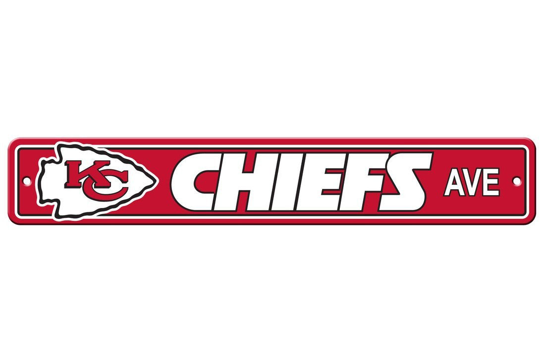 NFL Kansas City Chiefs Street Sign