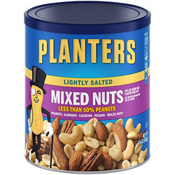 Planters Lightly Salted Mixed Nuts Canister, 15 oz