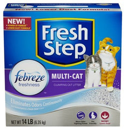 Fresh Step Multi-Cat, Scented Scoopable Cat Litter, 14 Pounds (Packaging May Vary)