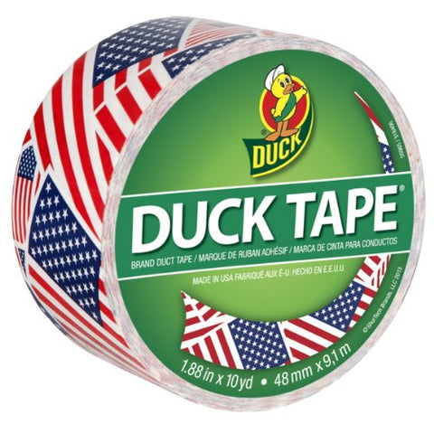 American Flag Stars and Stripes Duck Tape - 10 Yards x 1.88 Inches