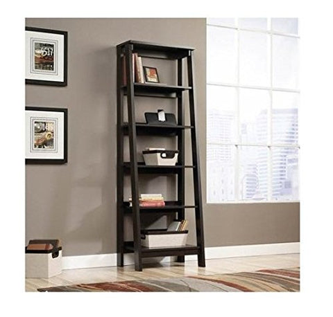 Sauder Trestle 5-Shelf Bookcase - Jamocha Wood