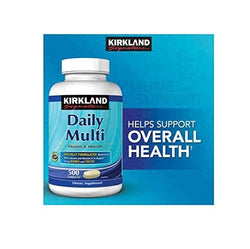 Daily Multi Vitamins & Minerals 500 Tablets Kirkland SignatureTM