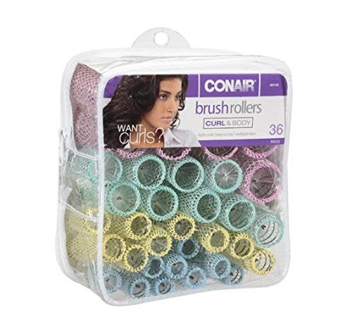 Conair Brush Rollers, Curl & Body 36 pieces