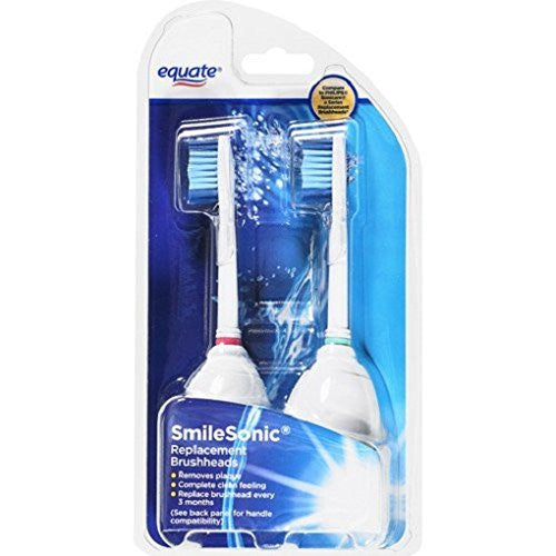 Equate Smilesonic Replacement Brushheads, 2ct