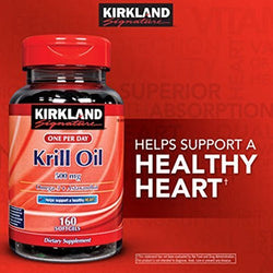 Kirkland One Per Day Krill Oil 500mg, 160 Softgels by Kirkland Signature