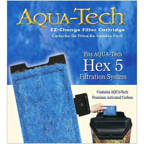 Aqua Tech HEX 5 #5 EZ Change Aquarium Replacement Filter Cartridge by AquaTech