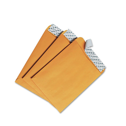 Quality Park Redi-Strip Catalog Envelope, 6 x 9, Brown Kraft, 100/Box