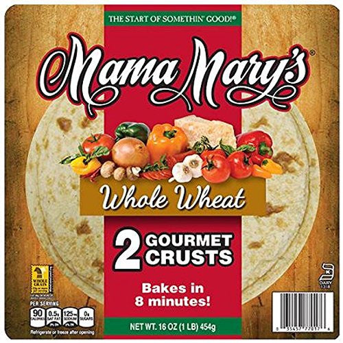 Mama Mary's Whole Wheat Pizza Crusts, 16 Ounce