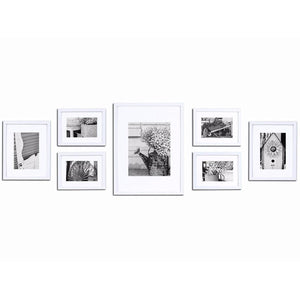 7-Piece White Wood Wall Frame Kit by Gallery Solutions™ -