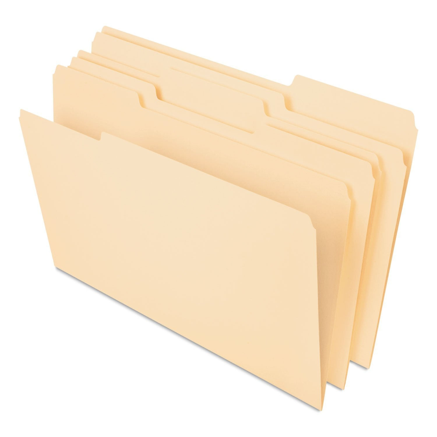 Pendaflex Essentials File Folders, 1/3 Cut Top Tab, Legal, Manila, 100/Box