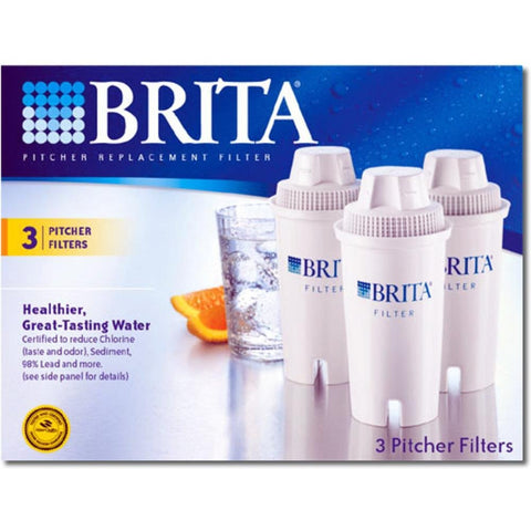 Brita Pitcher Replacement Advanced Filter- 3 Filters
