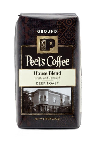 Peet's Coffee Ground Coffee - House Blend - 12 oz