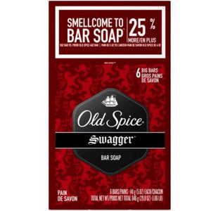 Old Spice, Red Zone Bar Soap, Swagger,'6-4 Ounce Bars'