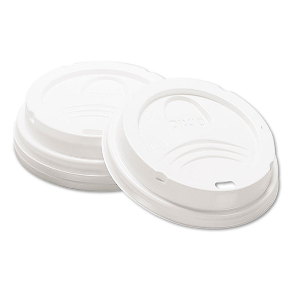Dixie Drink-Thru Lid, Fits 8oz Hot Drink Cups, White, 1000/Carton