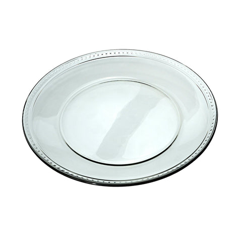 "Anchor Hocking 10"" Glass Isabella Dinner Plate, 12pc"